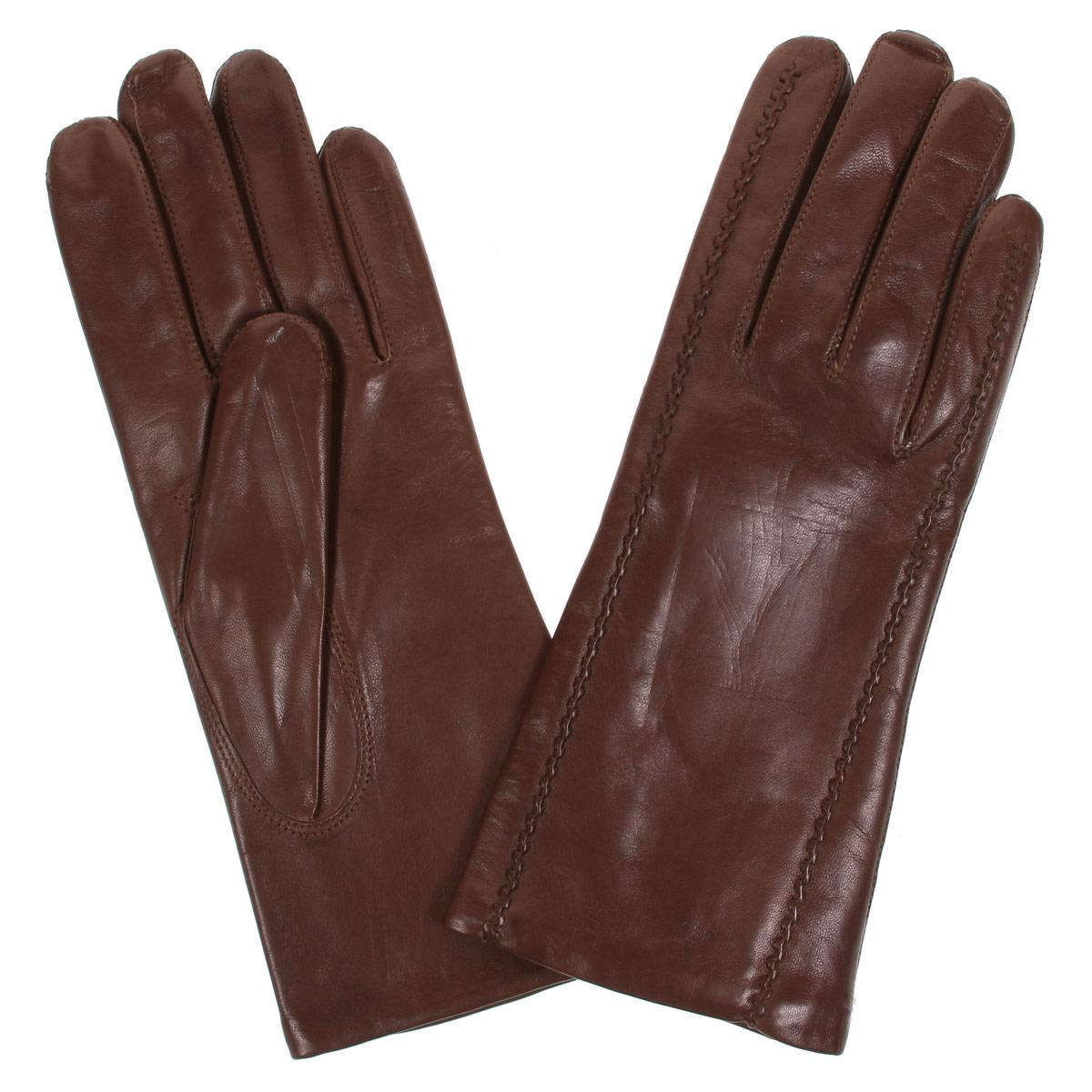 ПерчаткиDF12-247.chestnutСтильные женские перчатки Bartoc не только защитят ваши руки от холода, но и станут великолепным украшением. Они выполнены из мягкой и приятной на ощупь натуральной кожи ягненка, подкладка - из шерсти. Декорирована модель на лицевой стороне оригинальной рельефной отстрочкой. Перчатки являются неотъемлемой принадлежностью одежды, вместе с этим аксессуаром вы обретаете женственность и элегантность. Они станут завершающим и подчеркивающим элементом вашего неповторимого стиля и индивидуальности.