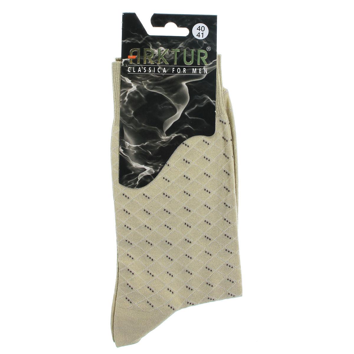 Л161_23Мужские носки Arktur престижного класса. Носки превосходного качества из мерсеризованного хлопка отличаются гладкой текстурой и шелковистостью, что создает приятное ощущение нежности и прохлады. Эргономичная резинка пресс-контроль комфортно облегает ногу. Носки обладают повышенной прочностью, не подвержены усадке. Усиленная пятка и мысок. Удлиненный паголенок. Идеальное сочетание практичности, комфорта и элегантности!