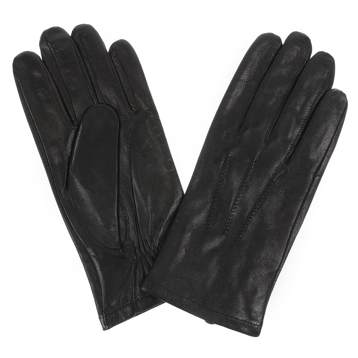 """Перчатки мужские. HK3028HK3028/10Мужские перчатки Baggini не только защитят ваши руки от холода, но и станут стильным аксессуаром. Перчатки выполнены из мягкой и приятной на ощупь натуральной кожи, подкладка - из шелка. Модель на лицевой стороне оформлена декоративными швами """"три луча"""". Манжеты с тыльной стороны присборены на резинку для лучшего прилегания к запястью. Перчатки станут завершающим и подчеркивающим элементом вашего неповторимого стиля и индивидуальности."""