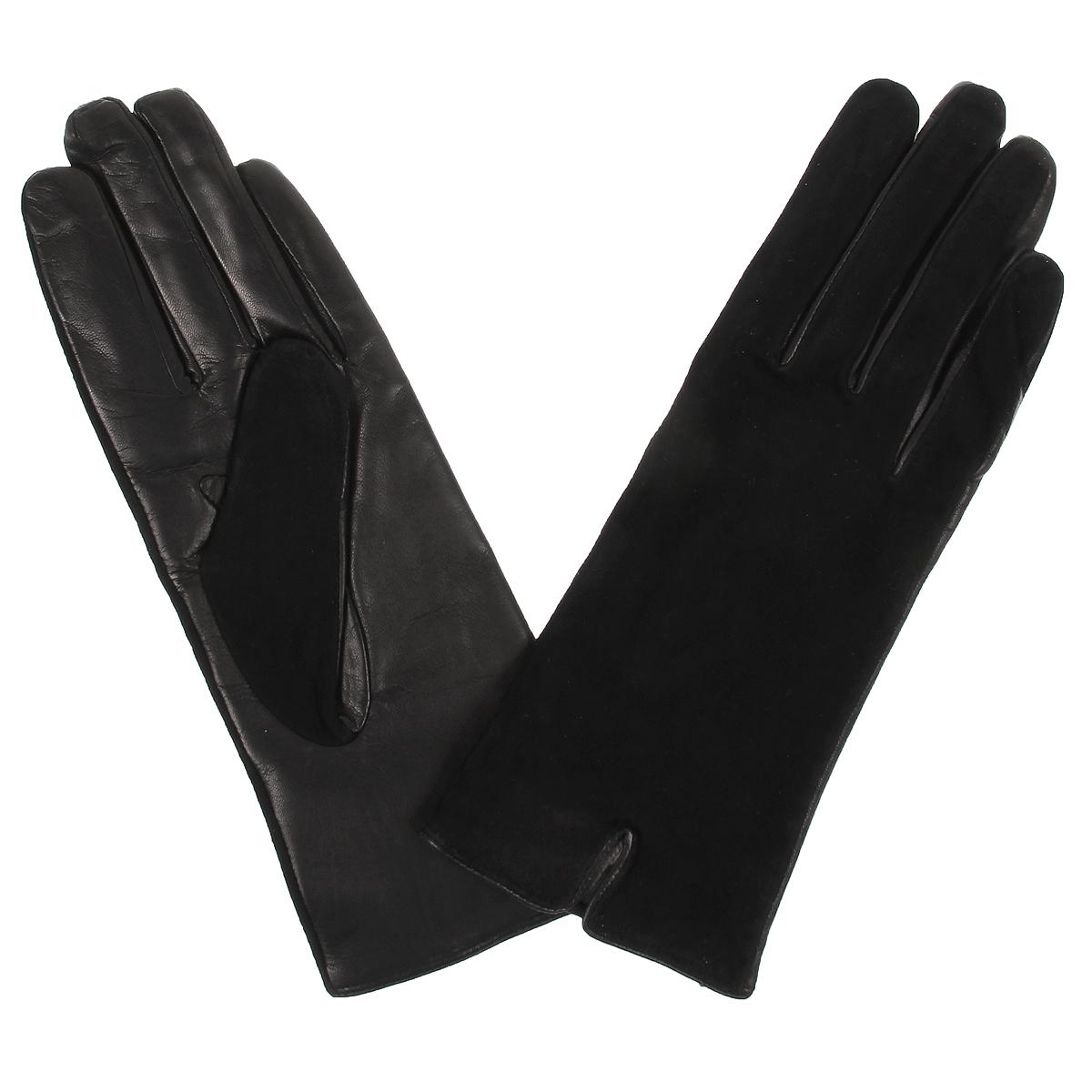 Перчатки женские. SD5521SD5521/23Стильные женские перчатки Baggini не только защитят ваши руки от холода, но и станут великолепным украшением. Перчатки выполнены из чрезвычайно мягкой и приятной на ощупь натуральной кожи, а их подкладка - из натуральной шерсти. Лицевая сторона перчаток выполнена из замши. В настоящее время перчатки являются неотъемлемой принадлежностью одежды, вместе с этим аксессуаром вы обретаете женственность и элегантность. Перчатки станут завершающим и подчеркивающим элементом вашего стиля и неповторимости.