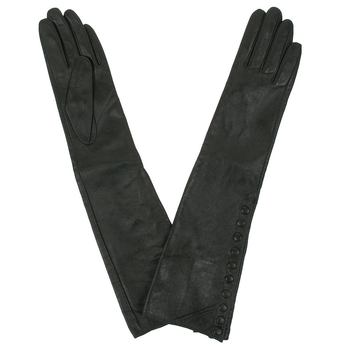 Длинные перчатки29К_40066_10_П_2Стильные женские перчатки Piero не только защитят ваши руки от холода, но и станут великолепным украшением. Они выполнены из мягкой натуральной кожи с подкладкой из нейлона. Перчатки длиной до локтя с внешней стороны застегиваются на застежки-кнопки. Перчатки являются неотъемлемой принадлежностью одежды, вместе с этим аксессуаром вы обретаете женственность и элегантность. Они станут завершающим и подчеркивающим элементом вашего неповторимого стиля и индивидуальности.