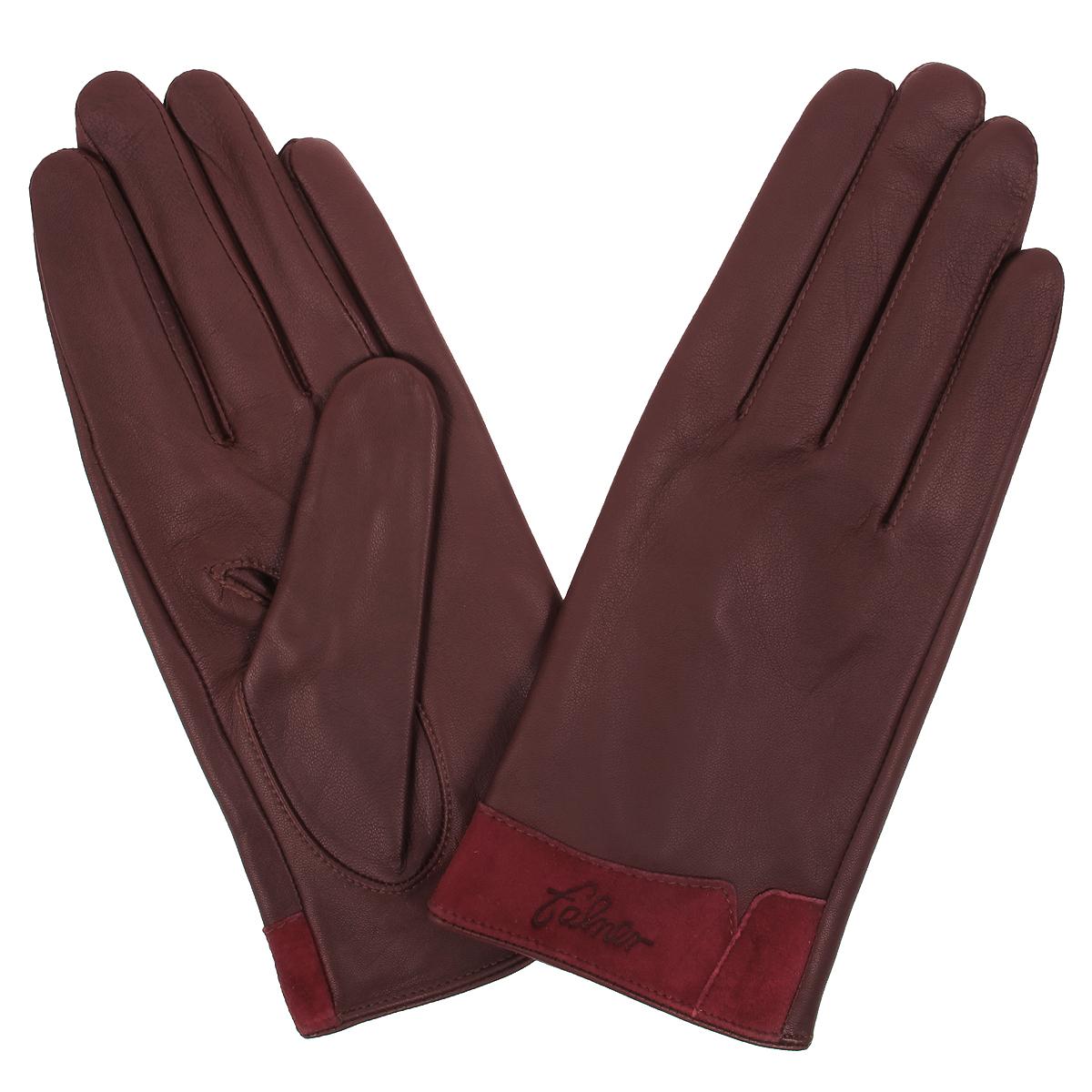 Перчатки женские. L-12L-12Стильные женские перчатки Falner с подкладкой из текстиля выполнены из мягкой и приятной на ощупь натуральной кожи. Манжеты с лицевой стороны выполнены из замши. С тыльной стороны манжеты дополнены небольшими разрезами. Такие перчатки подчеркнут ваш стиль и неповторимость и придадут всему образу нотки женственности и элегантности.