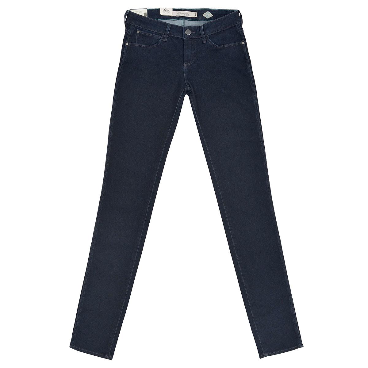 Джинсы женские Courtney Skinny. W23SPW23SP552BСтильные женские джинсы Wrangler Courtney Skinny созданы специально для того, чтобы подчеркивать достоинства вашей фигуры. Модель зауженного к низу кроя и заниженной посадки станет отличным дополнением к вашему современному образу. Застегиваются джинсы на пуговицу в поясе и ширинку на застежке-молнии, имеются шлевки для ремня. Спереди модель оформлены двумя втачными карманами и одним небольшим секретным кармашком, а сзади - двумя накладными карманами. Эти модные и в тоже время комфортные джинсы послужат отличным дополнением к вашему гардеробу. В них вы всегда будете чувствовать себя уютно и комфортно.