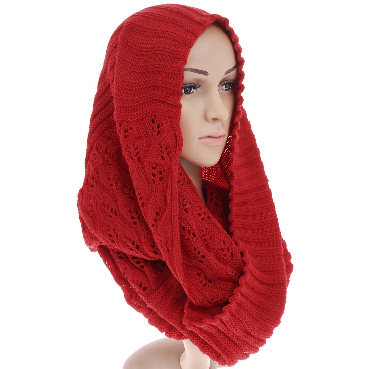 Снуд-хомут женский. 21/009021/0090/001Стильный вязаный снуд-хомут Fashion Stories, выполненный из 100% акрила, создан подчеркнуть ваш неординарный вкус и согреть вас в прохладное время года. Модель отличается интересной фактурой - вязка в виде резинки, плавно переходящая в ажурное плетение, позволяет создать эффект многослойности. Снуд - это объемный шарф, связанный по кругу. Этот модный аксессуар гармонично дополнит образ современной женщины, следящей за своим имиджем и стремящейся всегда оставаться стильной и элегантной.
