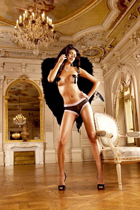 Трусы-шортики женские Angel. 258258Испытайте пристальное внимание - эти подчеркивающие фигуру шортики Angel из тонкого сетчатого материала цвета, окантованные кружевом контрастного цвета, придают внешнему виду не только исключительность, но и особую эротичность. Ластовица выполнена из хлопка, благодаря чему не раздражает нежную и чувствительную кожу.