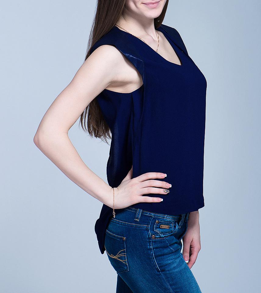 Блуза женская. 1009607310096073Оригинальная женская блуза Y.A.S., выполненная из высококачественного материала, будет отлично на вас смотреться. Модель свободного кроя, без рукавов, с подплечниками будет отлично на вас смотреться. Изделие оформлено складками. Классический покрой, лаконичный дизайн, безукоризненное качество. Идеальный вариант для тех, кто ценит комфорт и качество.