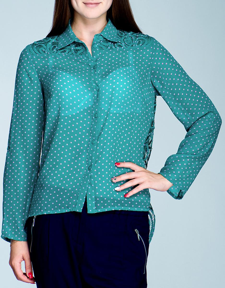 Блуза женская. 4.61.736.134.61.736.13Симпатичная женская блуза Van-Dos, выполненная из высококачественного материала, - находка для современной женщины, желающей выглядеть стильно и модно. Модель свободного кроя, с длинными рукавами и отложным воротником застегивается на пуговицы. Сзади блуза оформлена оригинальным узором. Такая модель, несомненно, вам понравится и послужит отличным дополнением к вашему гардеробу.