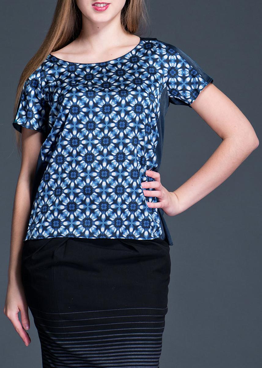 Блуза женская. 1325240260-153661325240260-15366Симпатичная женская блуза Turnover выполнена из высококачественного материала, обеспечит вам комфорт при носке. Модель свободного кроя с круглым вырезом горловины и короткими рукавами сзади застегивается на металлическую застежку-молнию. Эта замечательная блуза - идеальный вариант для создания эффектного образа.