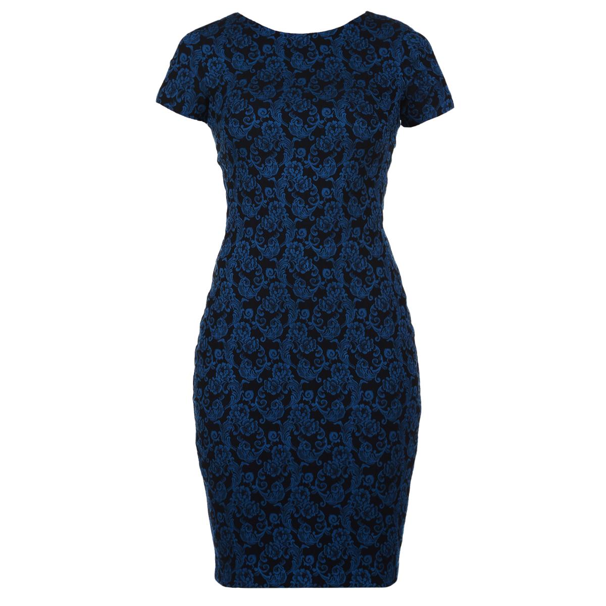 Платье. 51855185Элегантное платье Mondigo выполнено из структурной эластичной ткани с оригинальным объемным принтом. Платье лаконичного дизайна с круглым вырезом горловины и короткими рукавами. Модель приталенного кроя, длина до середины колена, без подкладки. На спинке застегивается на потайную молнию, сзади на подоле предусмотрен небольшой разрез. Модель дополнена V-образным вырезом на спинке. Облегающий силуэт выгодно подчеркнет достоинства фигуры.
