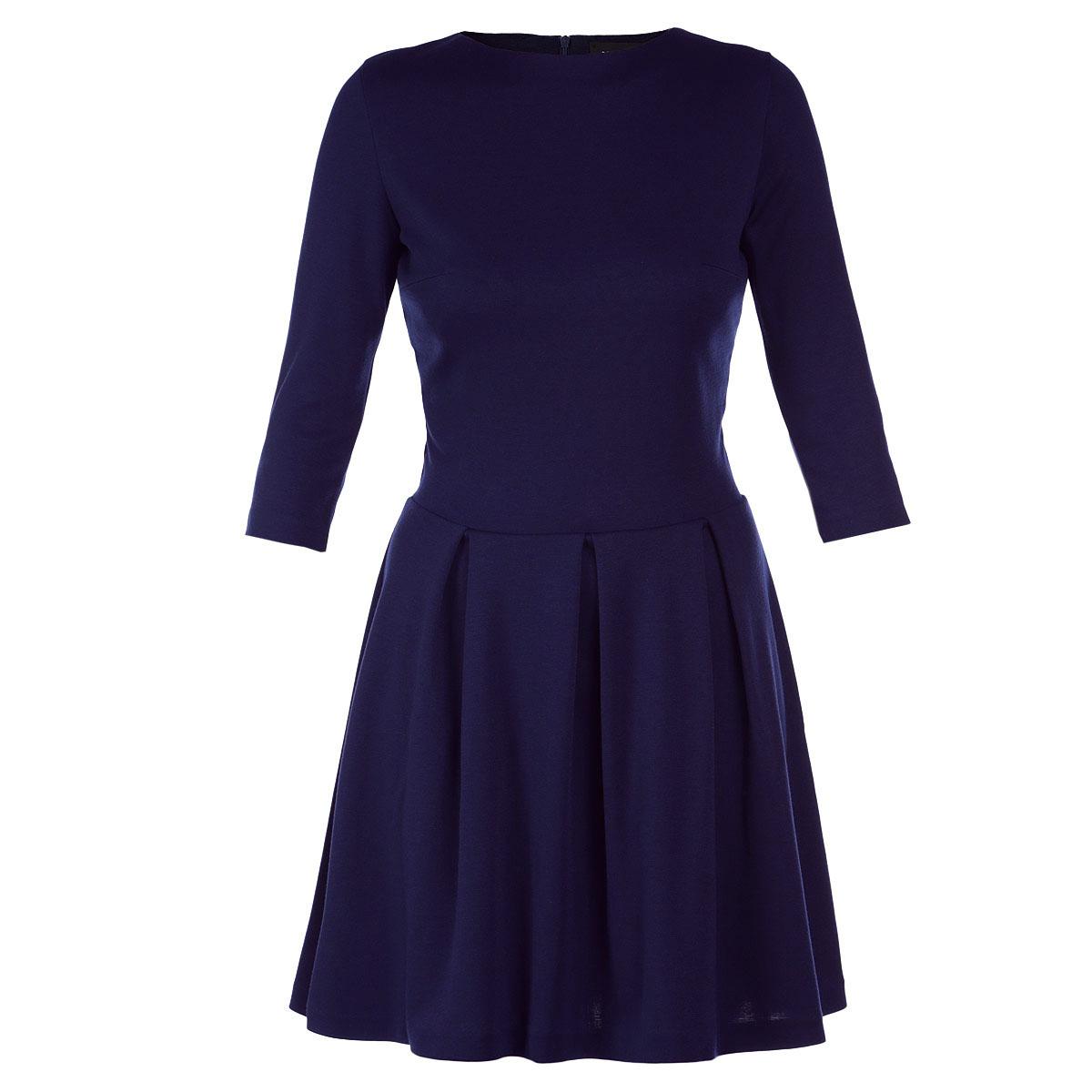 Платье. 5085-15085-1Стильное платье Mondigo выполнено из высококачественных материалов - микрофибры и вискозы с добавлением спандекса в строгом классическом стиле. Модель с круглым вырезом горловины, отрезной талией и рукавами длиной 3/4. Расклешенная юбка модели ложится объемными складками. Платье застегивается на потайную молнию, расположенную на спинке. Длина изделия чуть выше колена. Модное платье лаконичного дизайна органично впишется в повседневный гардероб.