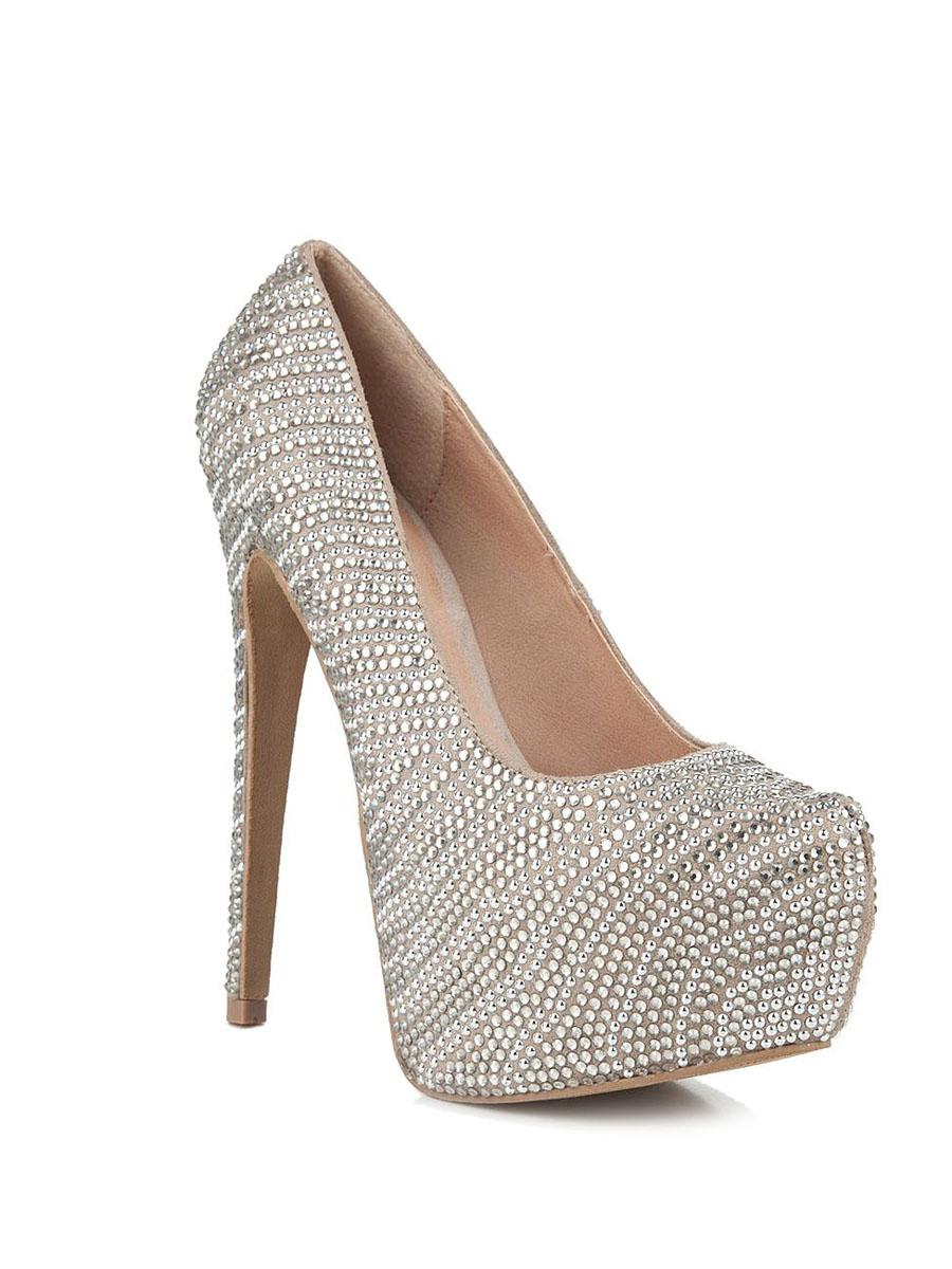 Туфли женские. DYVINALDYVINALРоскошные туфли от Steve Madden сделают вас королевой любой вечеринки! Модель выполнена из текстиля и оформлена россыпью сверкающих страз. Подкладка и стелька из искусственной кожи обеспечивают комфорт и удобство при ходьбе. Экстремально высокий каблук компенсирован скрытой платформой. Шикарные туфли эффектно дополнят ваш модный образ и позволят выделиться среди окружающих.