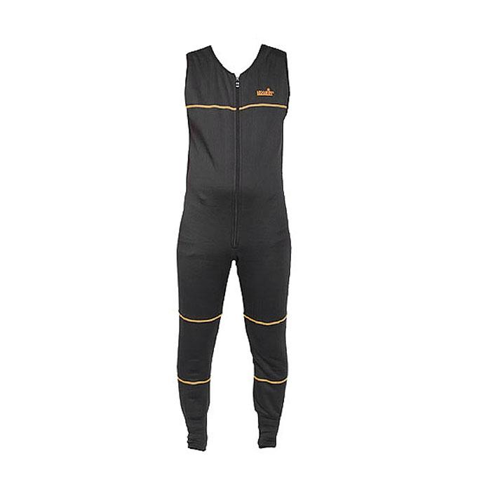 Термобелье комплект (брюки и кофта)302800Термобелье полукомбинезон мужской Norfin Overall - удобная и очень комфортная в носке модель, наиболее эффективно удерживающая тепло тела. Современный материал Norfleece Stretch (полиэстер, спандекс) способен растягиваться в четырех направлениях, он не стесняет движений, облегает тело, приятен на ощупь, не продувается ветром, отлично удерживает тепло тела и обладает высокой дышащей способностью. Изнаночная сторона выполнена из мягкого и приятного на ощупь флиса. Полукомбинезон с широкими бретелями и круглым вырезом горловины спереди застегивается на длинную застежку-молнию с двумя бегунками. Низ брючин дополнен широкими эластичными манжетами.
