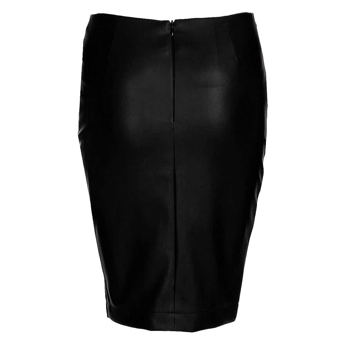 Юбка. SSD0784CASSD0784CAСтильная юбка Top Secret изготовлена из плотного материала, имитирующего кожу. Юбка-карандаш длины миди подчеркнет все достоинства вашей фигуры. Модель оформлена ассиметричной металлической молнией. Сзади юбка застегивается на потайную молнию. Эта модная юбка - отличный вариант на каждый день.