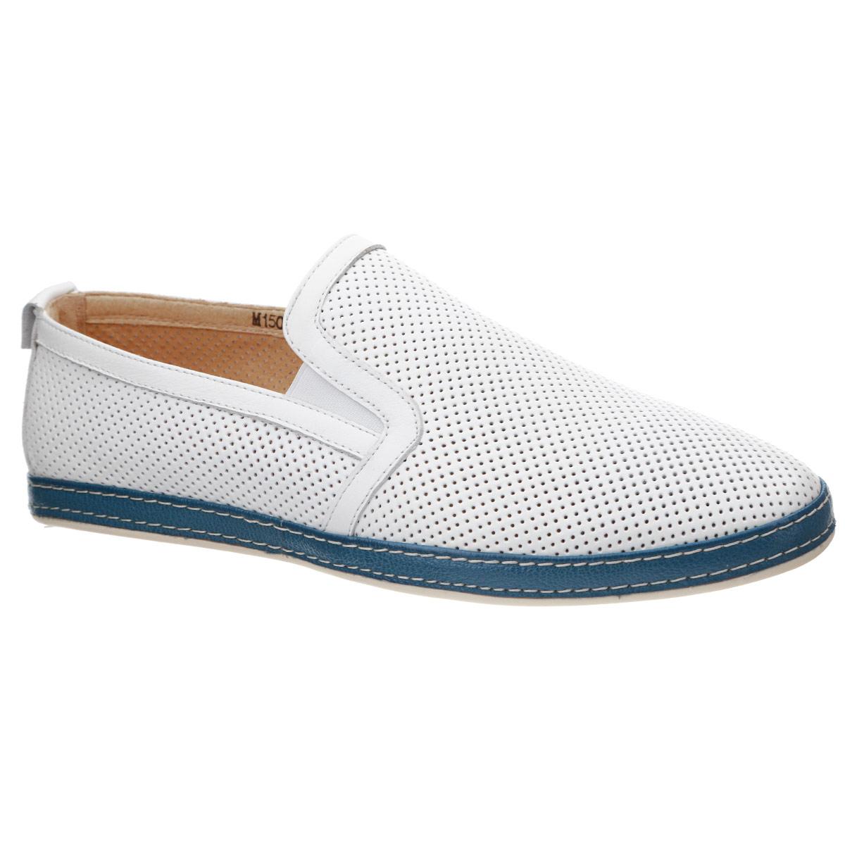 Туфли мужские. M15032*M15032*Стильные мужские туфли Vitacci займут достойное место среди вашей коллекции обуви. Модель изготовлена из натуральной высококачественной кожи и декорирована вставкой из натуральной кожи контрастного цвета с двойной прострочкой вдоль ранта, задним наружным ремнем с круглой металлической пластиной. Перфорация обеспечивает отличную вентиляцию, позволяет ногам дышать. Резинки, расположенные на подъеме, гарантируют оптимальную посадку модели на ноге. Съемная стелька из материала EVA с внешней поверхностью из натуральной кожи комфортна при движении. Рифленая поверхность подошвы защищает изделие от скольжения. Модные туфли покорят вас своим дизайном и удобством.