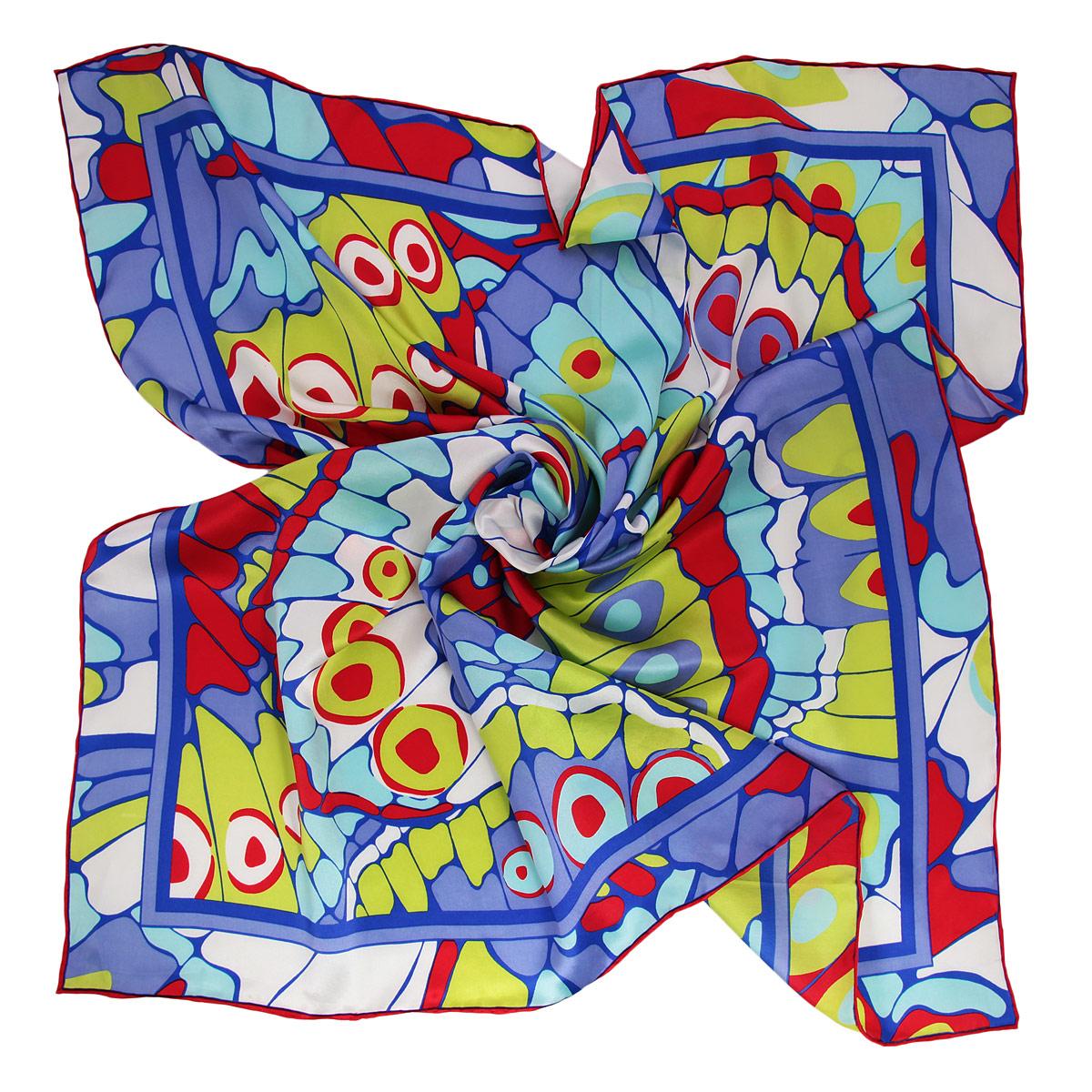 Платок женский. 18016291801629-1 ПлатокОчаровательный платок Venera подчеркнет ваш неповторимый образ. Изделие выполнено из натурального шелка и оформлено ярким орнаментом. Края платка обработаны вручную. Этот модный аксессуар женского гардероба гармонично дополнит образ современной женщины, следящей за своим имиджем и стремящейся всегда оставаться стильной и элегантной.