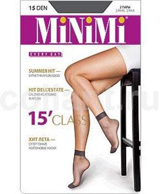 Носки женские Class 15, 2 парыcalz. CLASS 15Супертонкие и прочные летние носки Minimi Class из стрейч-нейлона с укрепленным мыском. В комплект входят 2 пары. Плотность: 15 den.