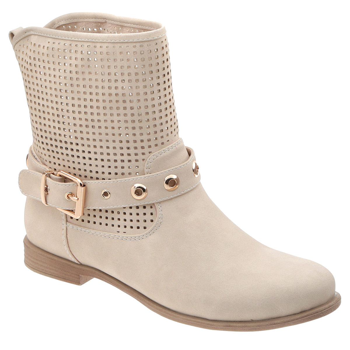 Ботинки женские. STT5-S683STT5-S683Трендовые женские ботинки от Itemblack придутся вам по душе! Модель изготовлена из искусственной кожи и оформлена задним наружным ремнем. Декоративный ремень, опоясывающий подъем, украшен металлическими люверсами. Перфорация обеспечивает отличную вентиляцию, позволяет ногам дышать. Отсутствие застежек компенсировано шириной голенища. Стелька выполнена из искусственной кожи. Невысокий каблук и подошва стилизованы под дерево. Ультрамодные ботинки помогут вам создать запоминающийся образ и подчеркнут вашу индивидуальность.