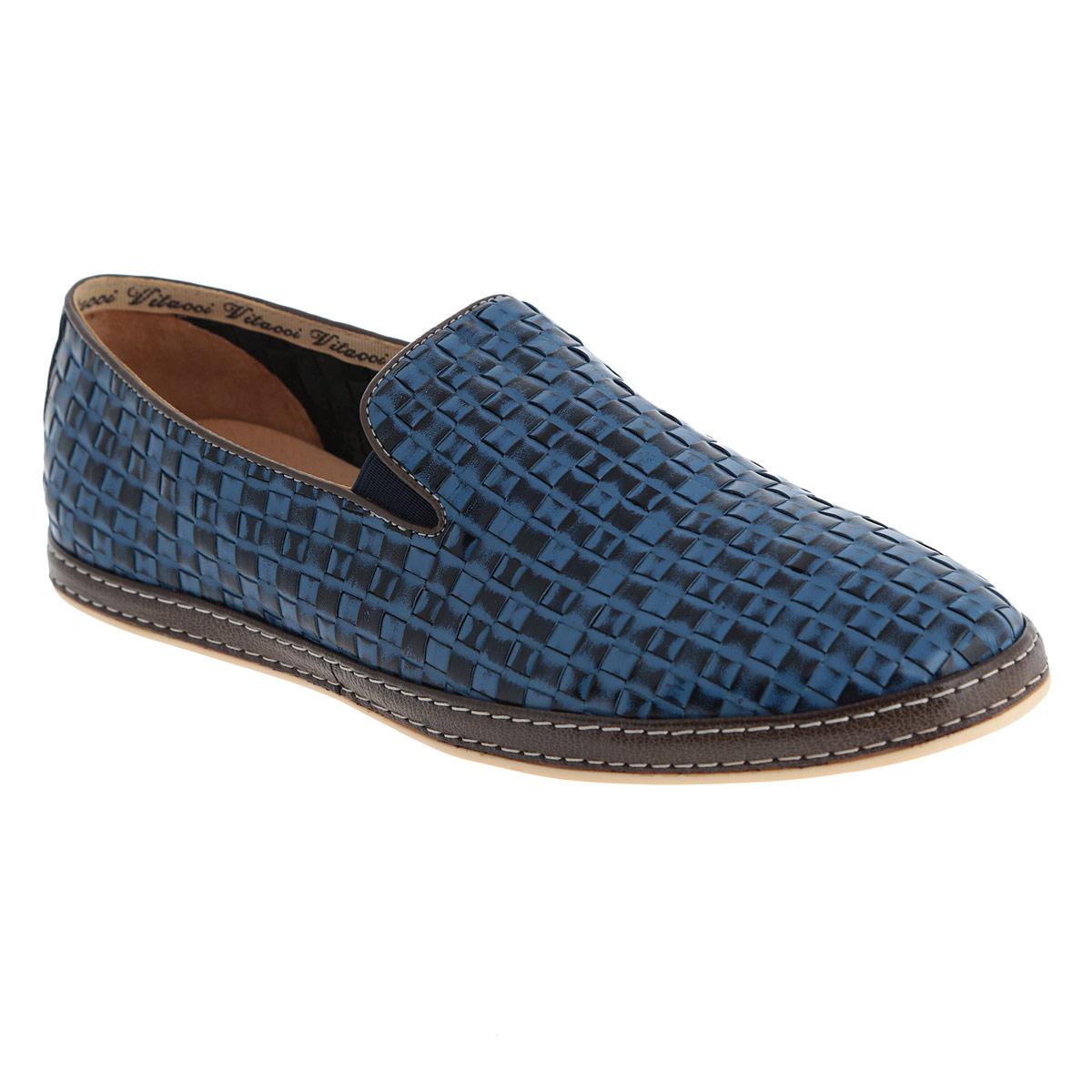 Слипоны мужские. M1796M17960Оригинальные мужские слипоны Vitacci займут достойное место среди вашей коллекции обуви. Модель изготовлена из натуральной высококачественной кожи и оформлена декоративным плетением, двойной прострочкой по ранту, задним наружным ремнем. Резинки, расположенные на подъеме, обеспечивают оптимальную посадку модели на ноге. Стелька из материала EVA с внешней поверхностью из натуральной кожи гарантирует комфорт при движении. Рифленая поверхность подошвы защищает изделие от скольжения. Модные слипоны покорят вас своим дизайном и удобством.