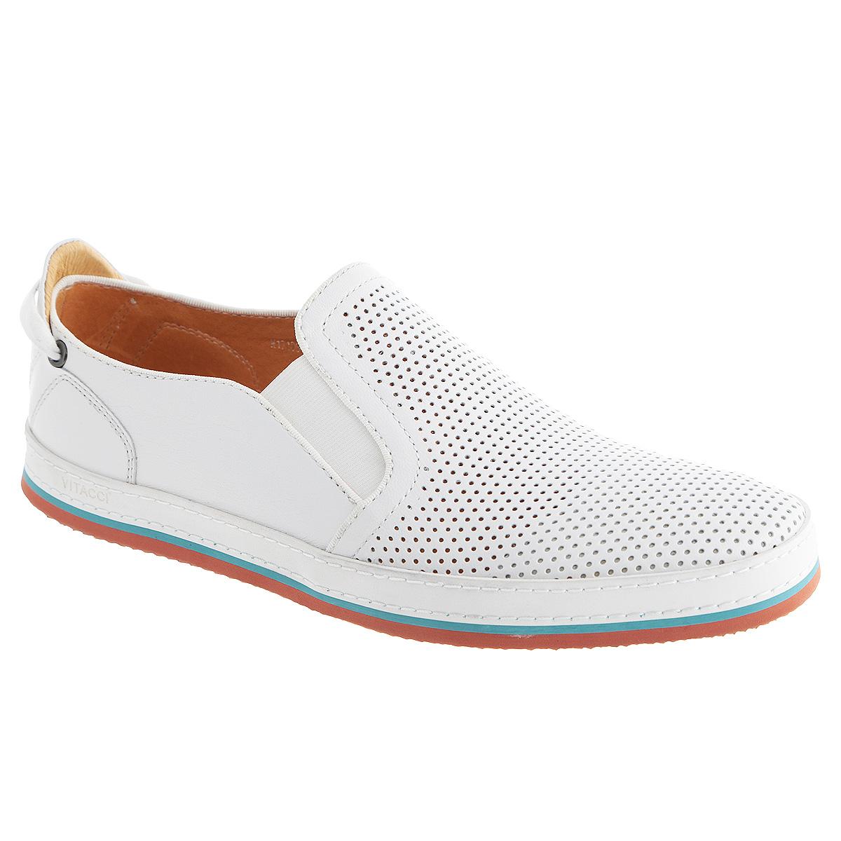 Туфли мужские. M171061M171061Стильные мужские туфли Vitacci займут достойное место среди вашей коллекции обуви. Модель изготовлена из натуральной высококачественной кожи и оформлена двойной прострочкой и тисненым названием бренда на ранте, круглой металлической пластиной с логотипом бренда и декоративным шнурком, пропущенным через фурнитуру, на заднике. Перфорация обеспечивает отличную вентиляцию, позволяет ногам дышать. Резинки, расположенные на подъеме, гарантируют оптимальную посадку модели на ноге. Съемная стелька из материала EVA с внешней поверхностью из натуральной кожи комфортна при движении. Рифленая поверхность подошвы защищает изделие от скольжения. Модные туфли покорят вас своим дизайном и удобством.