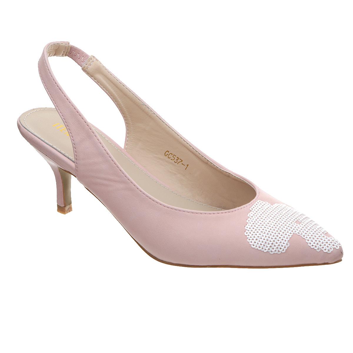 Туфли. GC-537-1GC-537-1Прелестные туфли от Itemblack заинтересуют вас с первого взгляда! Модель выполнена из искусственной кожи и оформлена россыпью пайеток на мысе. Заостренный носок внесет женственные нотки в ваш образ. Ремешок, дополненный резинкой, обеспечивает надежную фиксацию модели на щиколотке. Стелька из искусственной кожи комфортна при движении. Невысокий каблук устойчив. Рифленая поверхность подошвы защищает босоножки от скольжения. Стильные туфли - основа гардероба настоящей модницы.