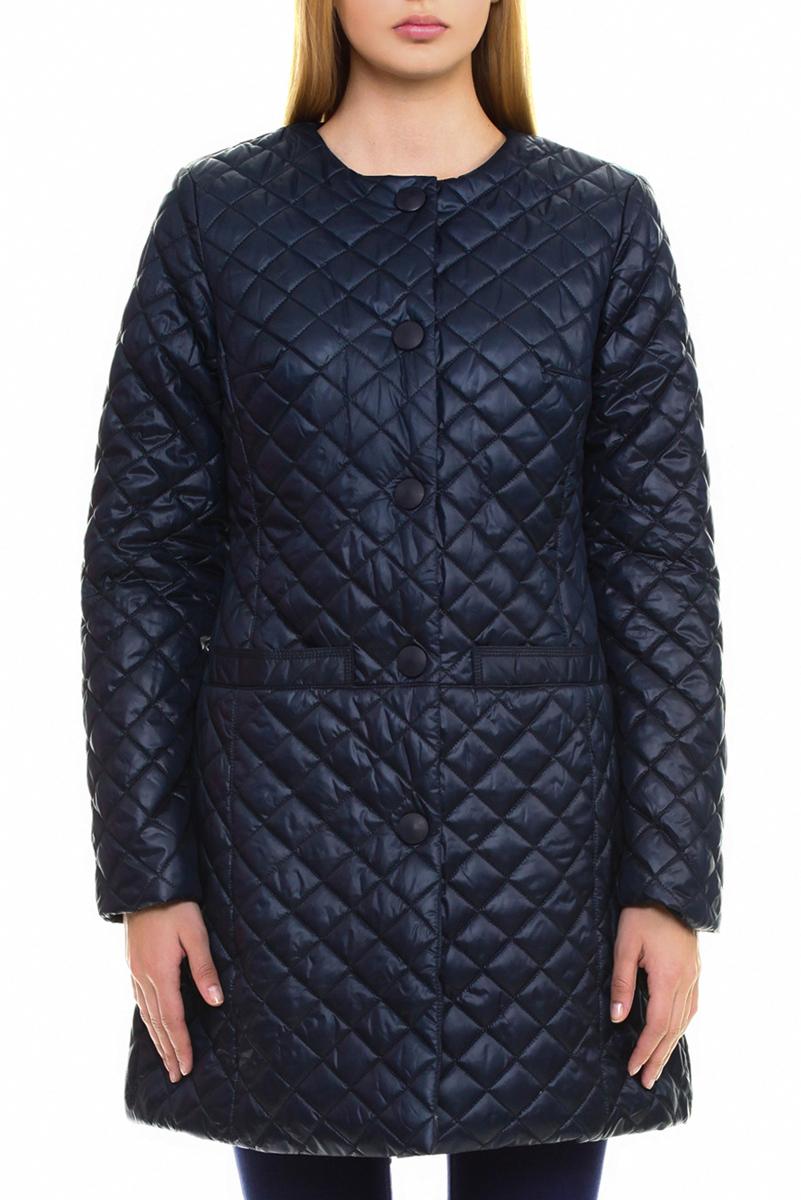 Пальто женское. B035030B035030Стеганое пальто Baon согреет вас в холодное время года. Изделие выполнено из водоотталкивающей и ветрозащитной ткани с утеплителем на синтепоне. Модель приталенного кроя с круглым вырезом горловины, застегивается на кнопки. Внешняя сторона дополнена двумя вшитыми карманами без застежки. На внутренней стороне - потайной карман на молнии. Подчеркните свой изысканный вкус и подарите себе комфорт и тепло.