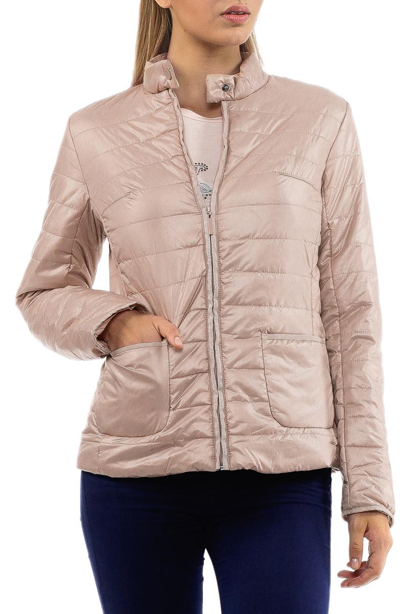 Куртка женская. B035005B035005Утепленная стеганая куртка Baon может стать вашей любимой моделью - ведь с ней будет так легко! Модель с воротником стойкой на кнопке и застежкой на молнию. На внутренней стороне предусмотрен вшитый карман на молнии. Спереди куртка дополнена двумя накладными карманами без застежки. Такая куртка займет достойное место в вашем гардеробе.