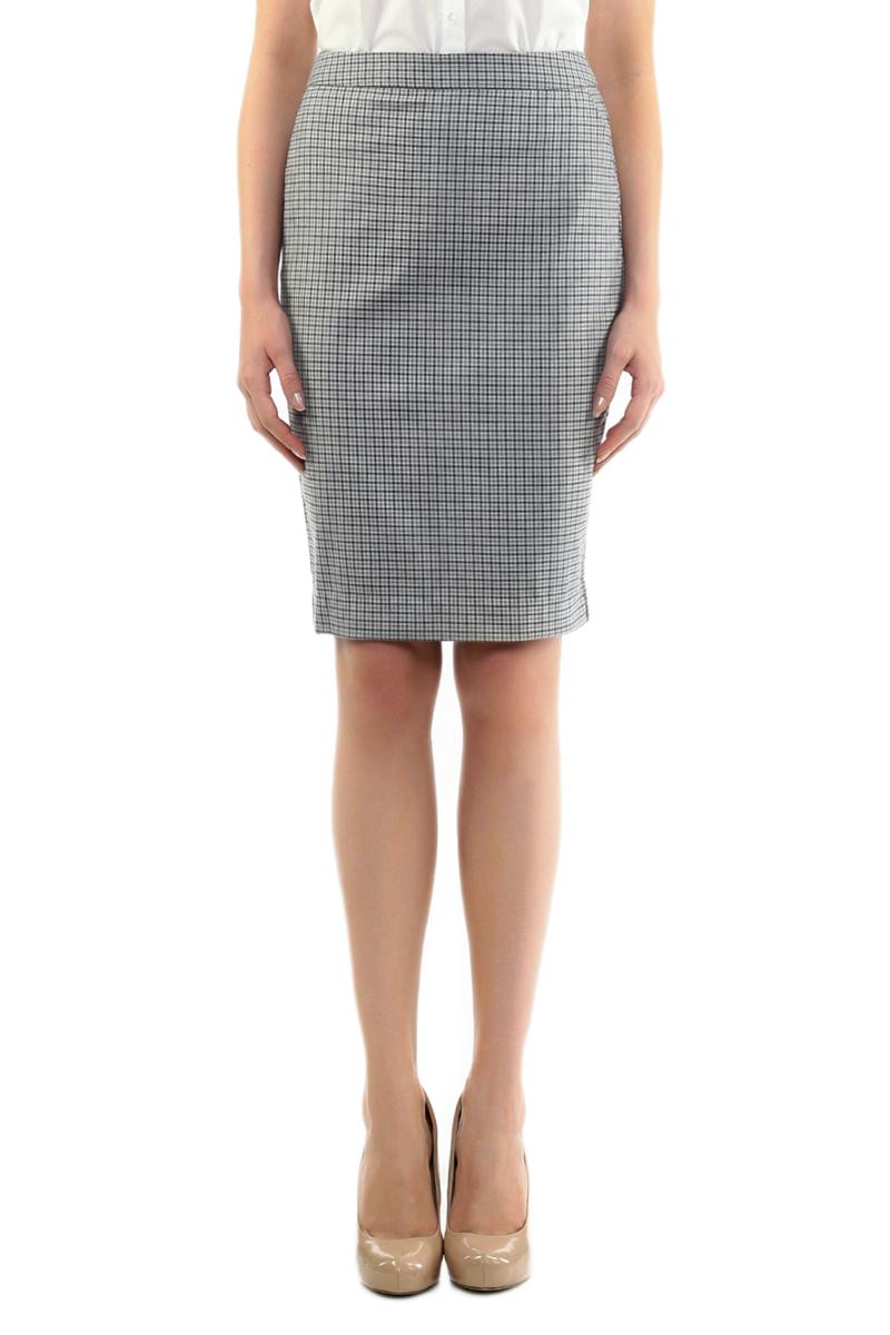 ЮбкаB475004Оригинальная юбка-карандаш Baon выполнена из плотного материала с клетчатым принтом. Подкладка выполнена из полиэстера. Модель на широком поясе, спереди дополнена втачными карманами с косыми срезами. Юбка застегивается на потайную застежку-молнию. Сзади предусмотрен небольшой разрез. Стильная юбка непременно украсит ваш гардероб и добавит образу женственности.
