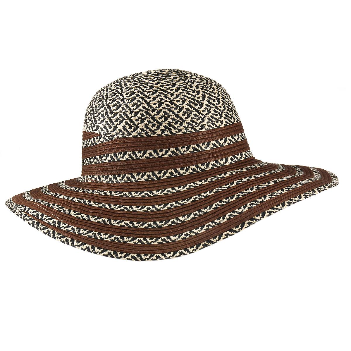 Шляпа1966334Летняя женская шляпа Canoe Stylish, выполненная из искусственной соломы, станет незаменимым аксессуаром для пляжа и отдыха на природе. Широкие поля шляпы надежно защищают от солнечных лучей. Шляпа оформлена стильным африканским орнаментом. Плетение шляпы обеспечивает необходимую вентиляцию и комфорт даже в самый знойный день. Шляпа легко восстанавливает свою форму после сжатия. Стильная шляпа с элегантными волнистыми полями подчеркнет вашу неповторимость и дополнит ваш повседневный образ.