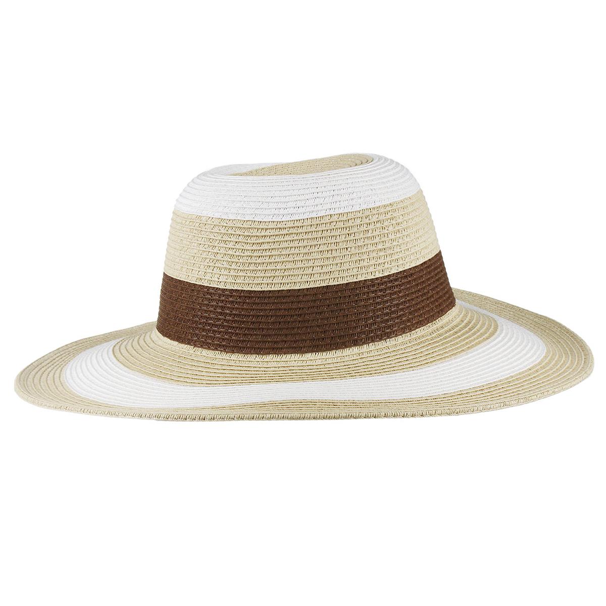 1966080Летняя женская шляпа Canoe Bahamian, выполненная из искусственной соломы и прочного полиэстера, станет незаменимым аксессуаром для пляжа и отдыха на природе. Широкие поля шляпы обеспечат надежную защиту от солнечных лучей. Плетение шляпы обеспечивает необходимую вентиляцию и комфорт даже в самый знойный день. Шляпа легко восстанавливает свою форму после сжатия. Стильная шляпа с элегантными волнистыми полями подчеркнет вашу неповторимость и дополнит ваш повседневный образ.
