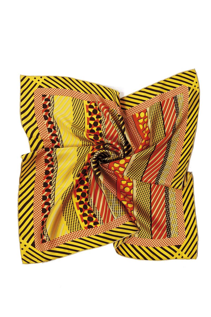 Платок женский. 70009-1070009-10HЯркий и стильный платок Moltini станет великолепным завершением любого наряда. Платок изготовлен из высококачественного шелка и оформлен красочным геометрическим принтом. Классическая квадратная форма позволяет носить его на шее, украшать прическу или декорировать сумочку. Мягкий и шелковистый платок поможет вам создать оригинальный женственный образ. Такой платок превосходно дополнит любой наряд и подчеркнет ваш неповторимый вкус и элегантность.