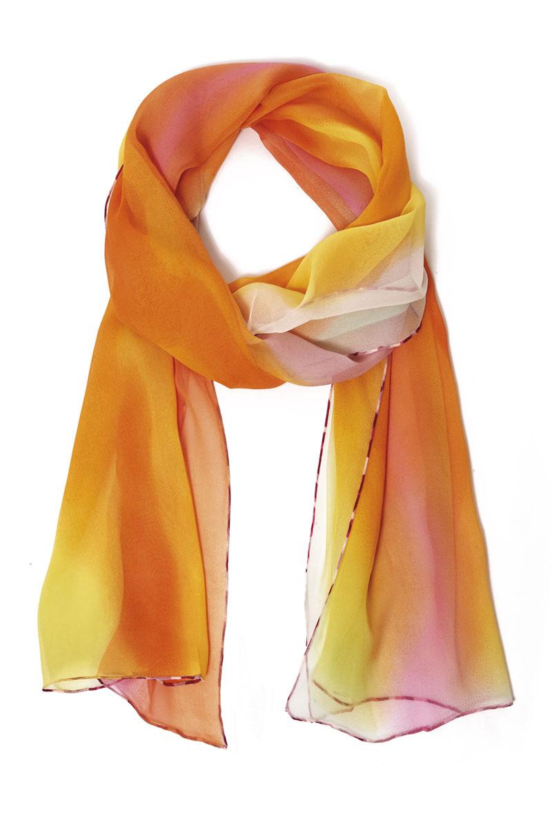 Шарф40019-10HШарф Moltini станет нарядным аксессуаром, который призван подчеркнуть вашу индивидуальность и очарование. Шарф выполнен из шелка и декорирован контрастной оторочкой по краю. Этот модный аксессуар гармонично дополнит образ современной женщины, следящей за своим имиджем и стремящейся всегда оставаться стильной и элегантной. Такой шарф украсит любой наряд, с ним вы всегда будете выглядеть изысканно и оригинально.