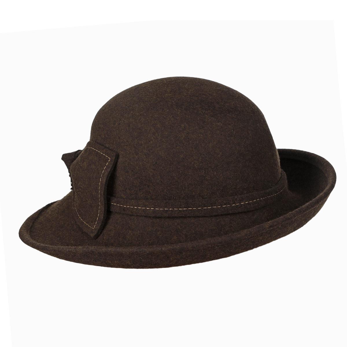 Шляпа женская. XF 915/1XF 915/1Элегантная шляпа Laura Biagiotti, выполненная из натуральной шерсти, непременно украсит любой наряд. Шляпа оформлена тонкой лентой вокруг тульи, и декоративным бантом с контрастной отстрочкой и небольшой металлической подвеской со стразами. Большие волнистые поля шляпы придадут вашему образу женственности и изящества. Такая шляпа подчеркнет вашу неповторимость и дополнит ваш повседневный образ.