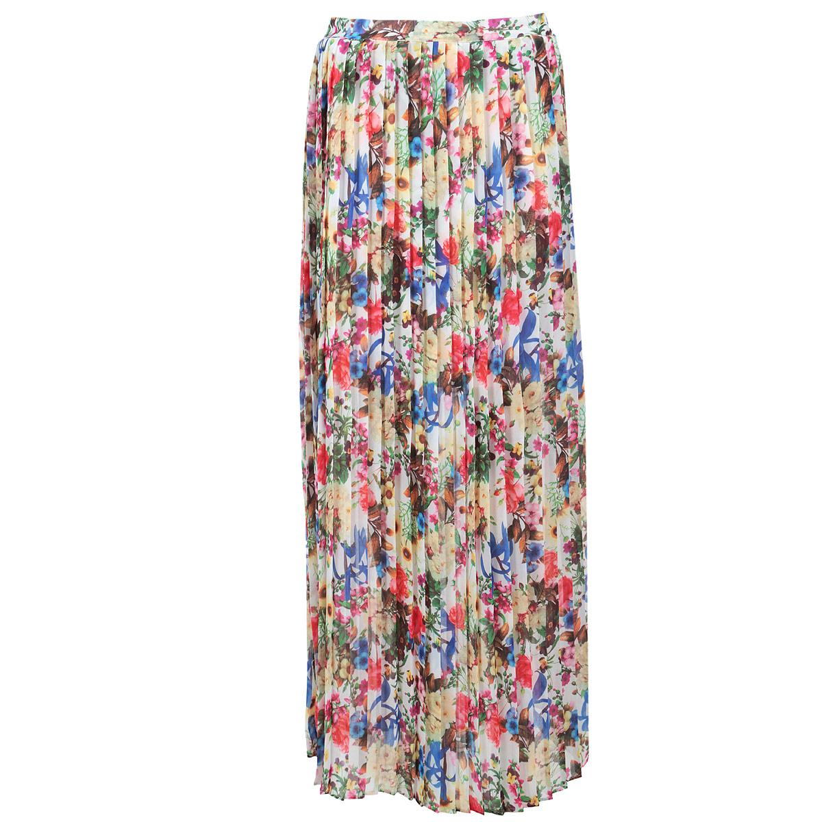 ЮбкаSK-118/392-5284Яркая юбка Sela выполнена из легкого струящегося и приятного на ощупь полиэстера. Очаровательная юбка плиссе сбоку застегивается на потайную застежку-молнию. Для большего комфорта имеется подъюбник. Юбка оформлена красочным цветочным принтом. Стильная юбка выгодно освежит и разнообразит любой гардероб. Создайте женственный образ и подчеркните свою яркую индивидуальность!