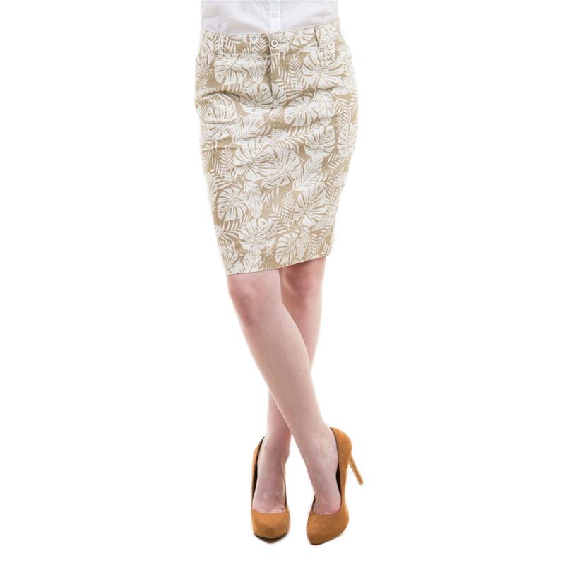 Юбка. SK-118/385-5183SK-118/385-5183Модная юбка-карандаш Sela, изготовленная из льна и хлопка, подарит ощущение радости и комфорта. Модель длины миди спереди застегивается на застежку-молнию и пуговицу, имеются шлевки для ремня. Юбка дополнена двумя втачными карманами спереди и двумя накладными - сзади, имеются шлевки для ремня. В этой юбке вы всегда будете чувствовать себя неотразимой.