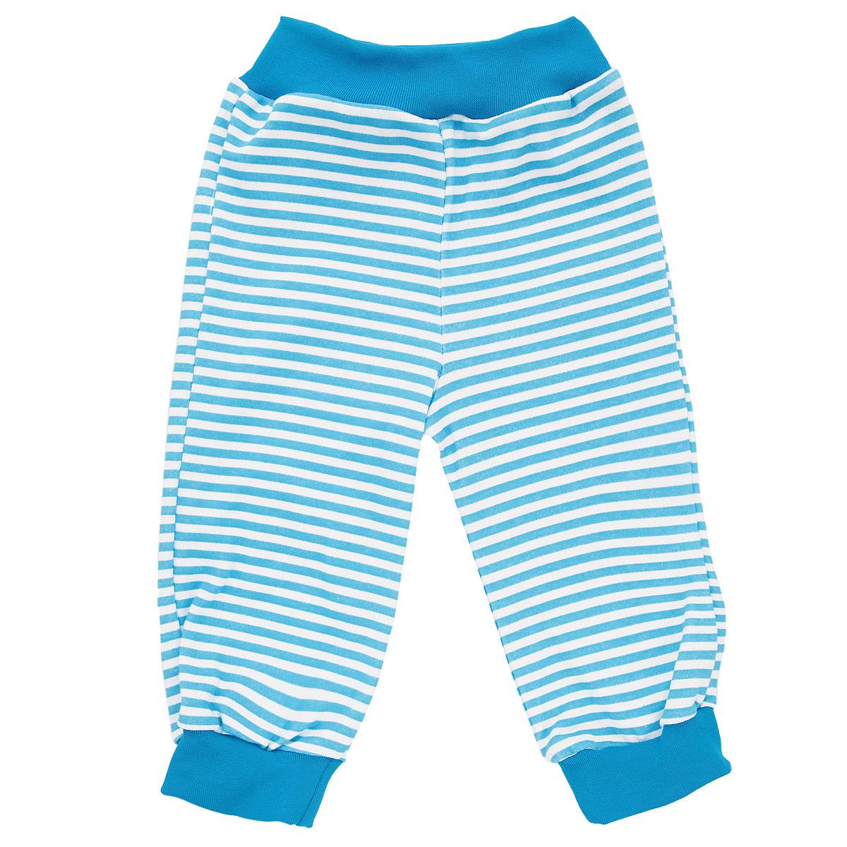 Штанишки на широком поясе для мальчика. 35423542Удобные штанишки для мальчика КотМарКот на широком поясе послужат идеальным дополнением к гардеробу вашего малыша. Штанишки, изготовленные из натурального хлопка - интерлока, необычайно мягкие и легкие, не раздражают нежную кожу ребенка и хорошо вентилируются, а эластичные швы приятны телу младенца и не препятствуют его движениям. Штанишки благодаря мягкому эластичному поясу не сдавливают животик ребенка и не сползают, обеспечивая ему наибольший комфорт, идеально подходят для ношения с подгузником и без него. Снизу брючины дополнены широкими трикотажными манжетами, не пережимающими ножку. Оформлено изделие принтом в полоску. Штанишки очень удобный и практичный вид одежды для малышей, которые уже немного подросли. Отлично сочетаются с футболками, кофточками и боди. В таких штанишках вашему малышу будет уютно и комфортно!