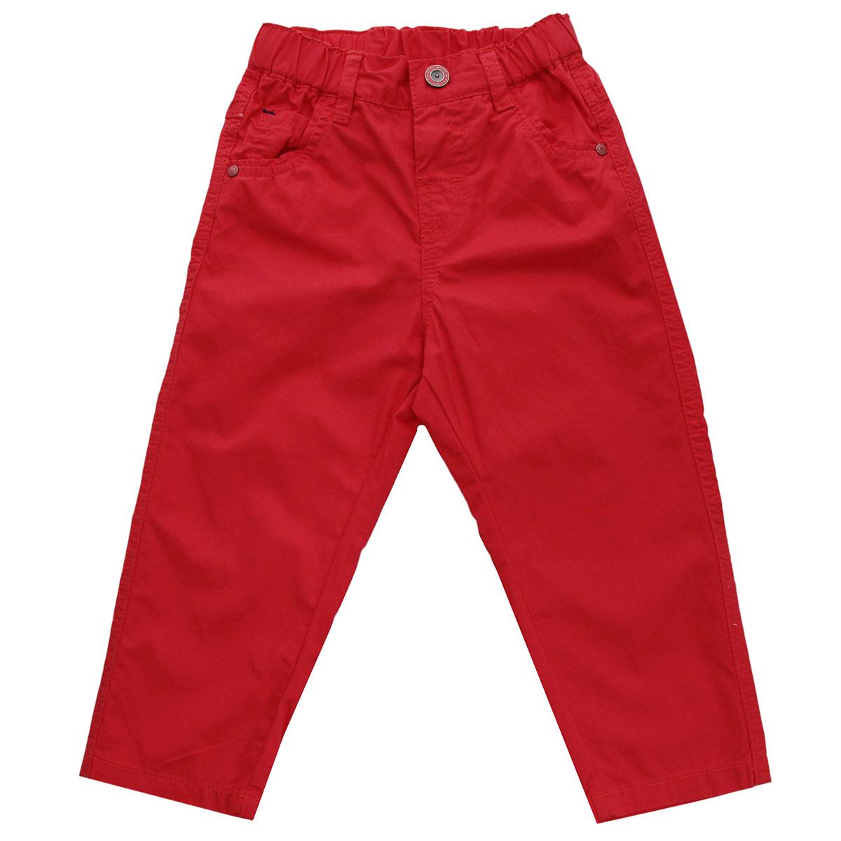 Брюки для мальчика. 90240429024042Модные летние брюки для мальчика Chicco прекрасно подойдут вашему ребенку и станут отличным дополнением к детскому гардеробу. Изготовленные из натурального хлопка, они мягкие и приятные на ощупь, не сковывают движения и позволяют коже дышать, не раздражают нежную кожу ребенка, обеспечивая ему наибольший комфорт. Брюки на талии застегиваются на металлическую застежку-кнопку и имеют широкую эластичную резинку. Также имеются шлевки для ремня. Спереди модель дополнена двумя втачными карманами и одним накладным кармашком. Сзади имеется имитация карманов с клапанами на кнопках. Оформлены карманы оригинальными клепками. В таких брюках ваш маленький мужчина будет чувствовать себя комфортно, уютно и всегда будет в центре внимания!