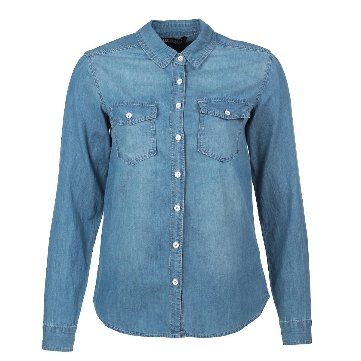 Рубашка женская. SKL1694NISKL1694NIСтильная джинсовая рубашка Top Secret, изготовленная из высококачественного материала, необычайно мягкая и приятная на ощупь, не сковывает движения и позволяет коже дышать, не раздражает даже самую нежную и чувствительную кожу, обеспечивая наибольший комфорт. Модная рубашка с отложным воротником и полукруглым низом, застегивается на пуговицы. Модель дополнена на груди двумя накладными карманами с клапанами на пуговицах. Эта рубашка идеальный вариант для повседневного гардероба. Такая модель порадует настоящих ценителей комфорта и практичности!