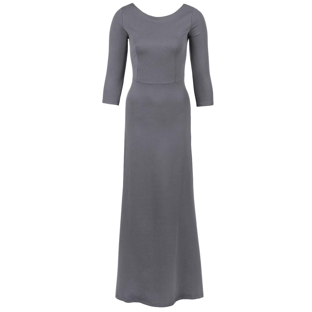 Платье. P20CP20C-BLЭлегантное платье от Анны Чапман придаст очарование и женственность своей обладательнице. Модель с отрезной талией, круглым вырезом горловины и рукавами длиной 3/4. Платье длины макси выполнено из плотного трикотажного материала. На спинке - V-образный вырез. Изысканный наряд создаст обворожительный неповторимый образ. Приталенный силуэт подчеркивает стройность фигуры.