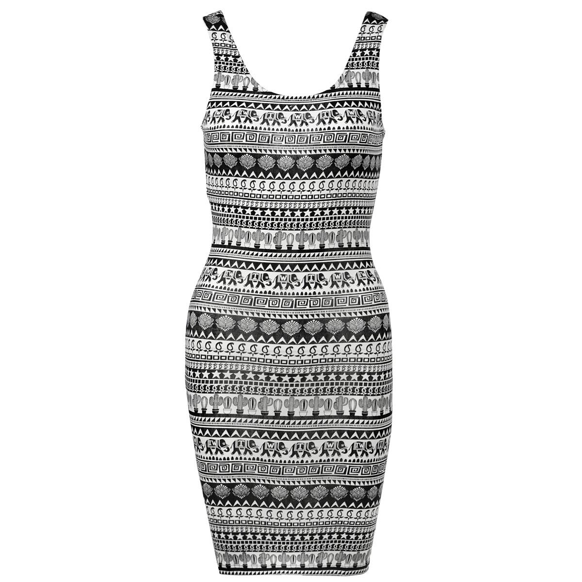 ПлатьеSDRCOSINDIAZ HHAA/BLKWHI001Симпатичное летнее платье Tally Weijl, выполненное из высококачественного трикотажного материала, - находка для современной женщины, желающей выглядеть стильно и модно. Модель облегающего кроя на широких бретельках, с круглым вырезом горловины. Платье оформлено оригинальным принтом. На спинке глубокий полукруглый вырез. Такая модель, несомненно, вам понравится и послужит отличным дополнением к вашему гардеробу.