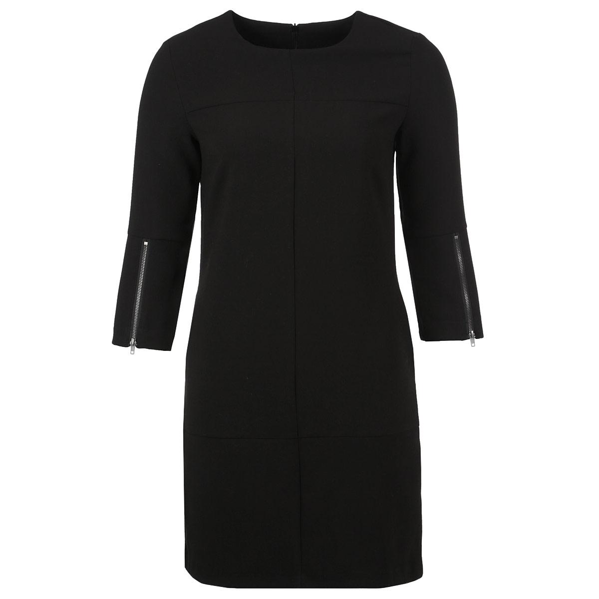 Платье. TSU0441CATSU0441CAСтильное платье Troll, выполненное из высококачественного материала, будет отлично на вас смотреться. Модель прямого кроя с рукавами длины 3/4 и круглым вырезом горловины подчеркнет ваш стиль. По бокам платье дополнено втачными карманами. Рукава оформлен металлическими молниями. На спинке платье застегивается на потайную молнию Идеальный вариант для тех, кто ценит комфорт и качество.