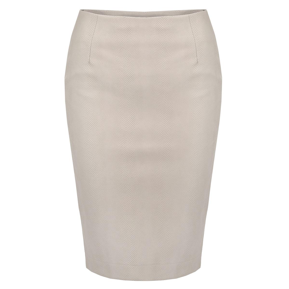ЮбкаSSD0785BEСтильная юбка Top Secret изготовлена из полиуретана, имитирующего кожу питона. Юбка-карандаш длиной до колена подчеркнет все достоинства вашей фигуры. Сбоку юбка застегивается на потайную молнию. Эта модная юбка - отличный вариант на каждый день.