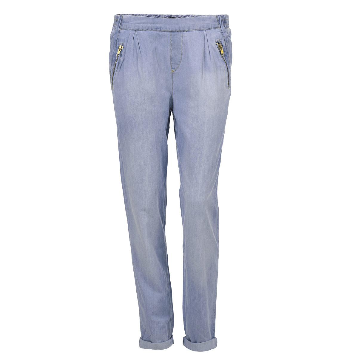 Джинсы женские. SPADEJOGG EHBL/BLU013SPADEJOGG EHBL/BLU013Стильные женские джинсы-джоггеры Tally Weijl высочайшего качества, созданы специально для того, чтобы подчеркивать достоинства вашей фигуры. Модель свободного кроя с зауженными к низу брючинами и средней посадки станет отличным дополнением к вашему современному образу. Пояс дополнен эластичной резинкой. Спереди модель оформлена четырьмя втачными карманами с косыми срезами, а сзади - имитацией прорезных кармашков. Эти модные и в тоже время комфортные джинсы послужат отличным дополнением к вашему гардеробу. В них вы всегда будете чувствовать себя уютно и комфортно.
