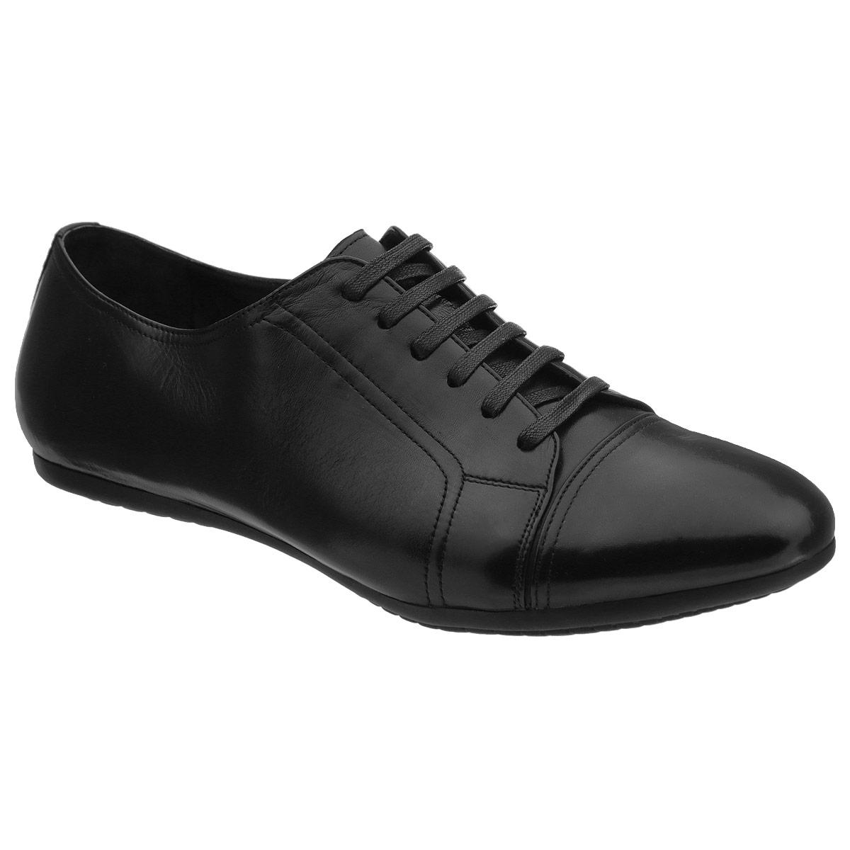Полуботинки мужские. 104-164-29104-164-29Стильные мужские полуботинки от Dino Ricci не оставят вас равнодушным! Модель выполнена из натуральной высококачественной кожи и оформлена задним наружным ремнем и декоративной прострочкой. Шнуровка позволяет прочно зафиксировать обувь на ноге. Стелька из натуральной кожи оснащена перфорацией, позволяющей вашим ногам дышать. Прочная резиновая подошва дополнена противоскользящим рифлением. Модные полуботинки прекрасно впишутся в ваш гардероб.