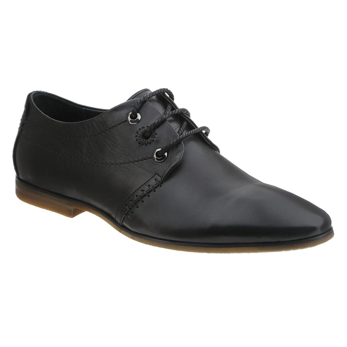Туфли мужские. 104-198-05104-198-05Элегантные мужские туфли от Dino Ricci займут достойное место среди вашей коллекции обуви. Модель выполнена из натуральной высококачественной кожи и оформлена декоративными внешними швами. Шнуровка позволяет прочно зафиксировать модель на ноге. Стелька из натуральной кожи оснащена перфорацией, позволяющей вашим ногам дышать. Каблук и подошва с рифлением обеспечивают отличное сцепление с поверхностью. Стильные туфли прекрасно дополнят ваш деловой образ.