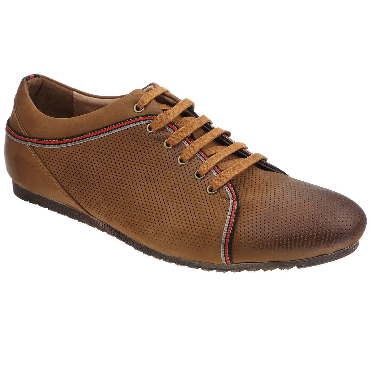 111-168-26Стильные мужские полуботинки от Dino Ricci не оставят вас равнодушным! Модель выполнена из натурального высококачественного нубука и декорирована перфорацией и текстильными нашивками. Шнуровка позволяет прочно зафиксировать обувь на ноге. Стелька EVA с внешней поверхностью из натуральной кожи оснащена перфорацией, позволяющей вашим ногам дышать. Прочная резиновая подошва дополнена противоскользящим рифлением. Модные полуботинки прекрасно впишутся в ваш гардероб.