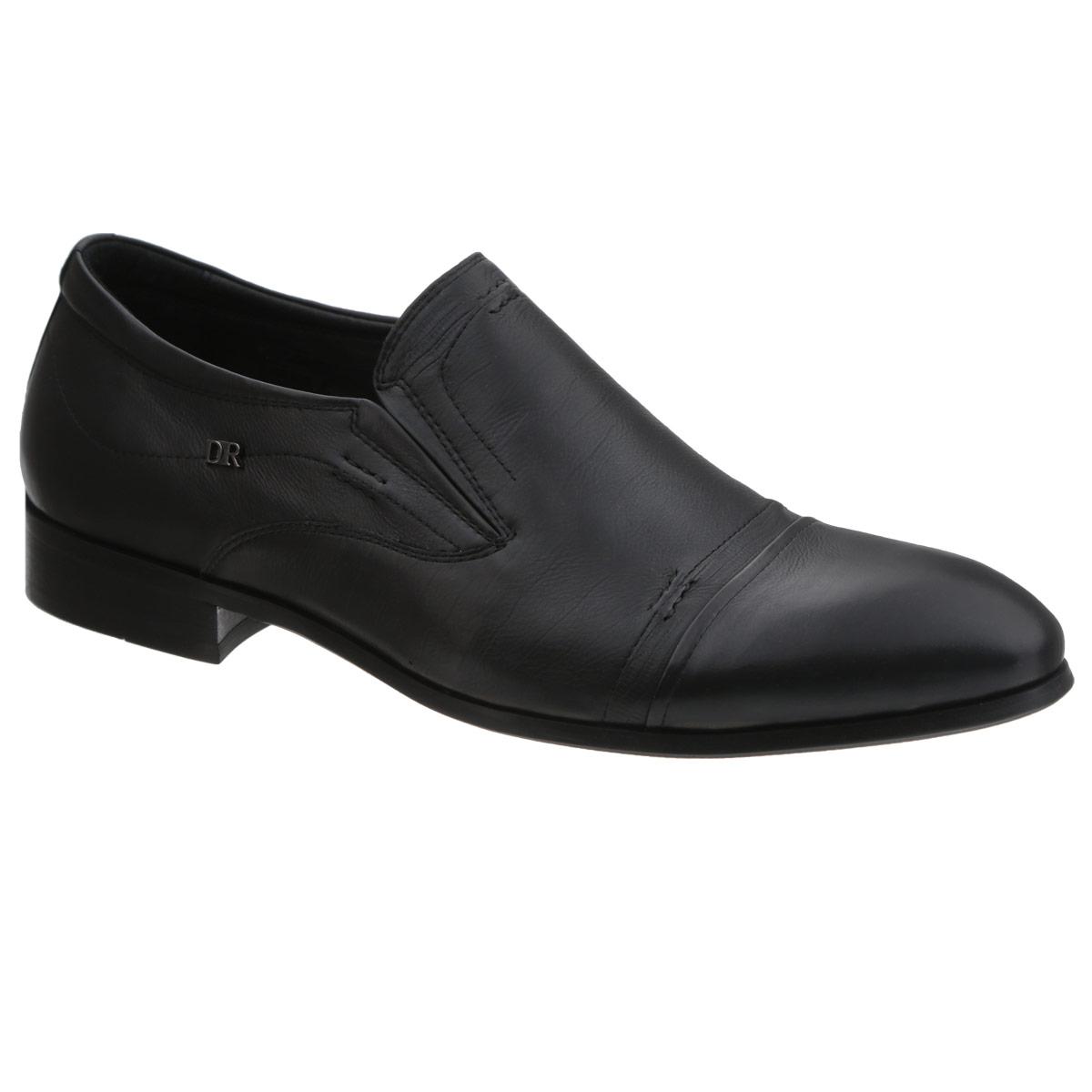 Туфли мужские. 101-167101-167-01Элегантные мужские туфли от Dino Ricci займут достойное место среди вашей коллекции обуви. Модель выполнена из натуральной высококачественной кожи и сбоку оформлена декоративным элементом из металла в виде логотипа бренда. Резинки, расположенные на подъеме, гарантируют оптимальную посадку модели на ноге. Стелька EVA с поверхностью из натуральной кожи оснащена перфорацией, позволяющей вашим ногам дышать. Умеренной высоты каблук и подошва с рифлением обеспечивают отличное сцепление с поверхностью. Изысканные туфли станут прекрасным завершением вашего модного образа.