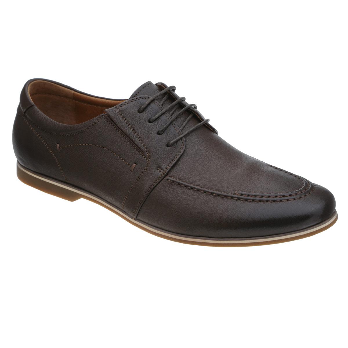 Полуботинки мужские. 103-122-139103-122-139Стильные мужские полуботинки от Dino Ricci не оставят вас равнодушным! Модель выполнена из натуральной высококачественной кожи и оформлена декоративными внешними швами. Резинки, расположенные на подъеме, обеспечивают оптимальную посадку модели. Шнуровка прочно зафиксирует обувь на вашей ноге. Стелька EVA с внешней поверхностью из натуральной кожи обеспечивает комфорт при движении. Каблук и подошва оснащены противоскользящим рифлением. Подошва дополнена контрастной полосой. Модные полуботинки прекрасно впишутся в ваш гардероб.