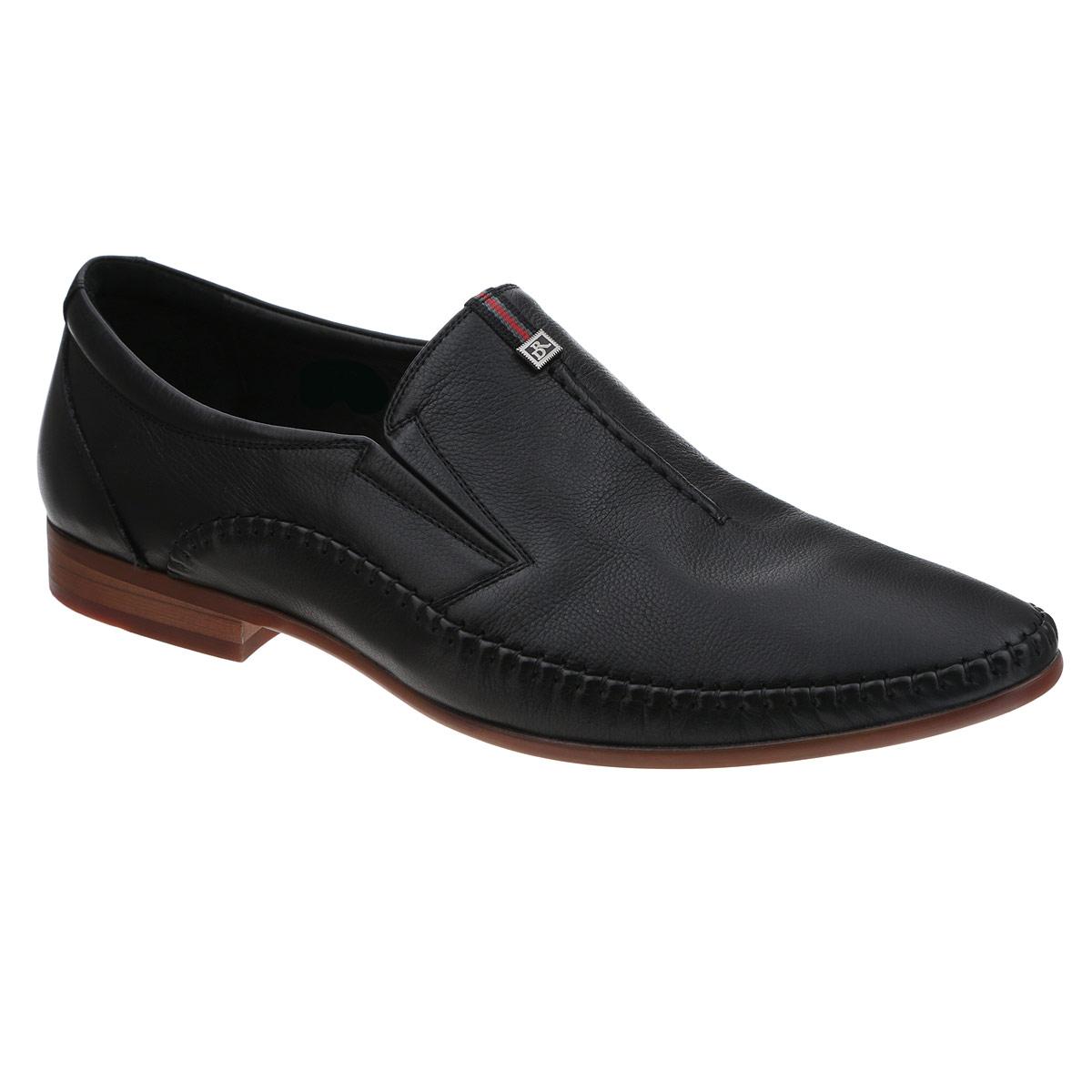Туфли мужские. 105-07-44105-07-44Элегантные мужские туфли от Dino Ricci займут достойное место среди вашей коллекции обуви. Модель выполнена из натуральной высококачественной кожи и оформлена внешними декоративными швами, нашивкой и небольшой металлической пластиной с логотипом бренда. Резинки, расположенные на подъеме, гарантируют оптимальную посадку модели на ноге. Стелька из натуральной кожи оснащена перфорацией, позволяющей вашим ногам дышать. Каблук и подошва стилизованы под дерево. Подошва дополнена рифлением в виде оригинального рисунка. Стильные туфли прекрасно дополнят ваш деловой образ.