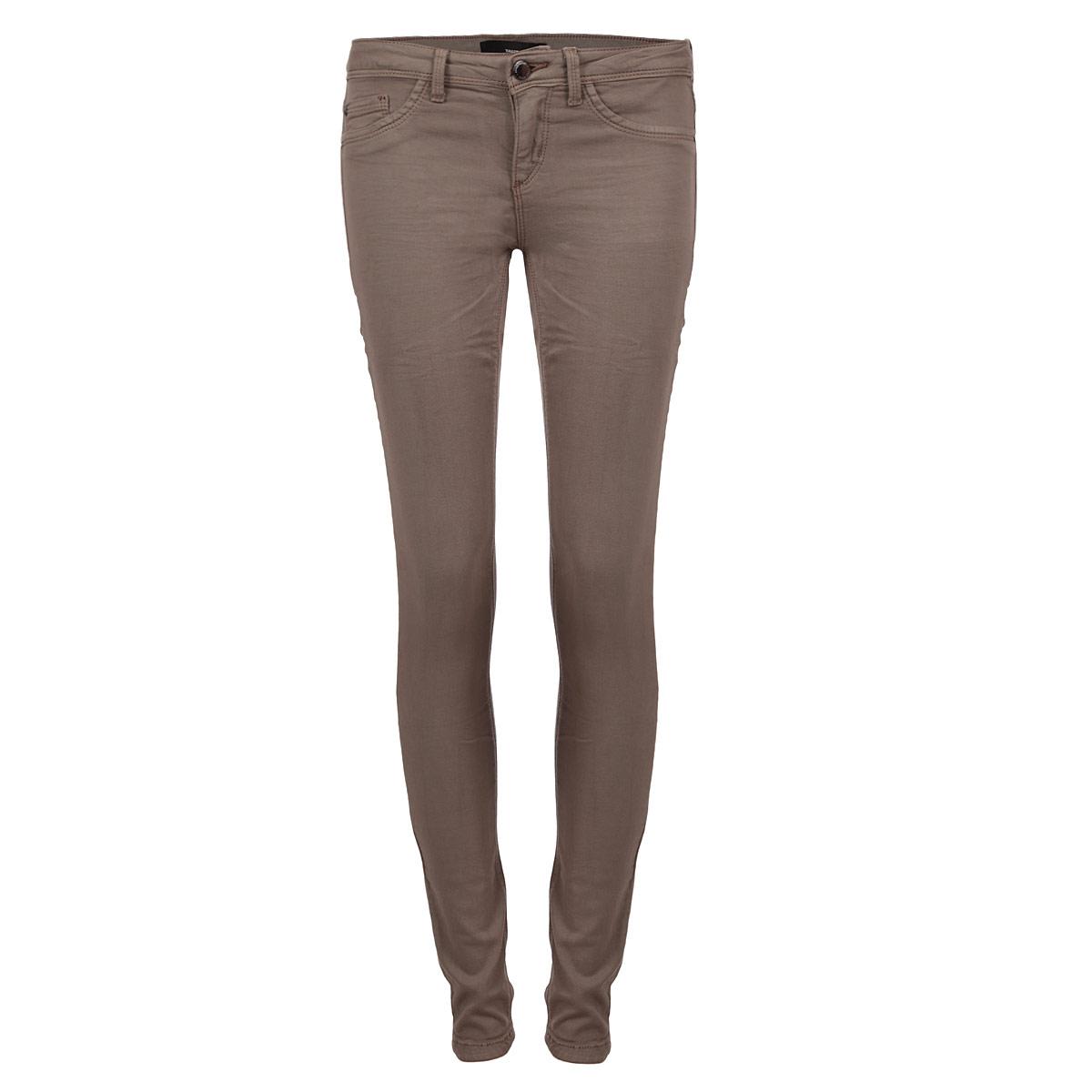 БрюкиSPACOGAGA02 UZ/BRW038Стильные женские брюки Tally Weijl созданы специально для того, чтобы подчеркивать достоинства вашей фигуры. Модель зауженного кроя и заниженной посадки станет отличным дополнением к вашему современному образу. Застегиваются брюки на пуговицу в поясе и ширинку на застежке-молнии, имеются шлевки для ремня. Спереди модель оформлена двумя втачными карманами и одним небольшим секретным кармашком, а сзади - двумя накладными карманами. Эти модные и в тоже время комфортные брюки послужат отличным дополнением к вашему гардеробу. В них вы всегда будете чувствовать себя уютно и комфортно.