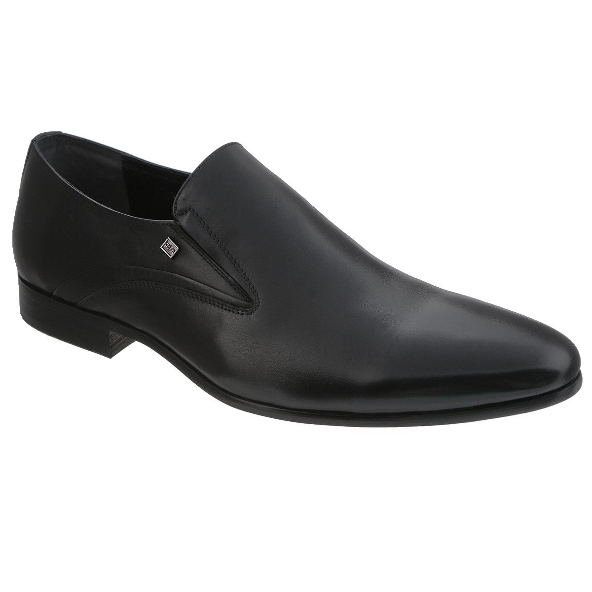 Туфли мужские. 5100151001Элегантные мужские туфли от Antonio Biaggi отлично дополнят ваш деловой образ. Модель выполнена из высококачественной натуральной кожи и оформлена металлической пластиной с логотипом бренда. Резинки, расположенные на подъеме, обеспечивают оптимальную посадку модели на ноге. Кожаная стелька с супинатором обеспечивает максимальный комфорт при движении. Умеренной высоты каблук и подошва с рифлением обеспечивают отличное сцепление с поверхностью. Стильные туфли займут достойное место среди вашей коллекции обуви.